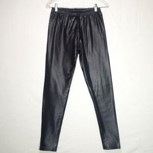 Pants - Faux Leather Fleece Lined Leggings Size XL